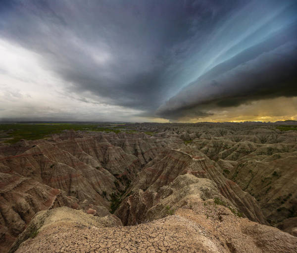 Shelf Cloud Photograph - Big Badlands by Aaron J Groen