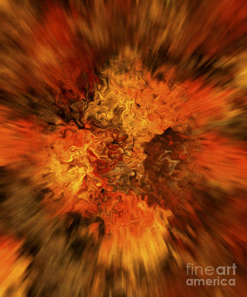Mirage Digital Art - Big Band - Fiery Cloud by Michal Boubin