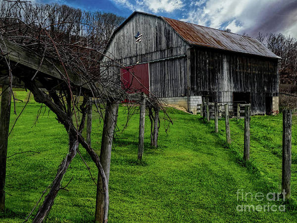 Big Barn Art Print by Elijah Knight