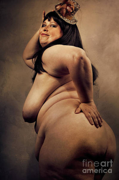 Photograph - Big Beautiful Woman In Color #8866o by William Langeveld