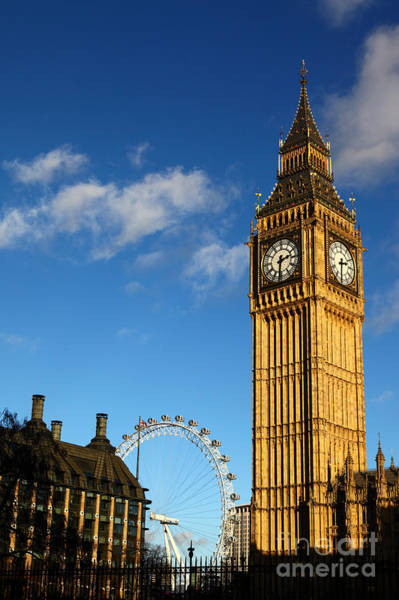 Photograph - Big Ben And London Eye by James Brunker