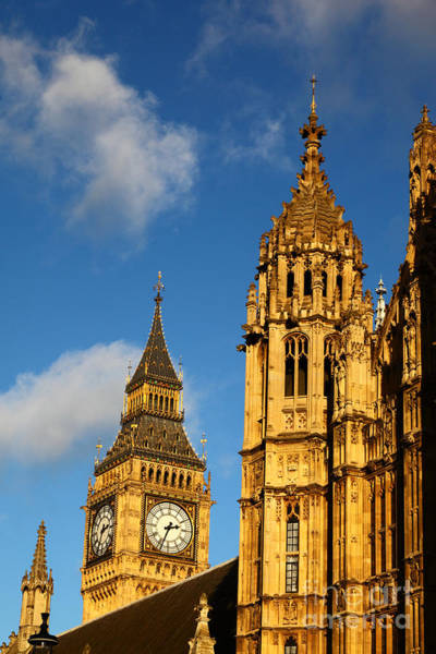Photograph - Big Ben And Towers Of Palace Of Westminster London by James Brunker