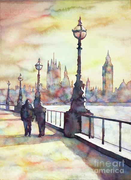 Wall Art - Painting - Big Ben At Sunset- London by Ryan Fox