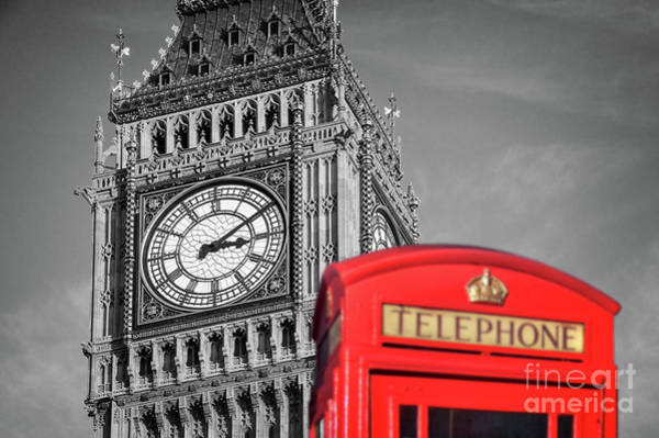London Phone Booth Wall Art - Photograph - Big Ben by Delphimages Photo Creations