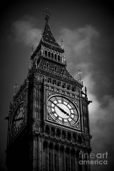 Wall Art - Photograph - Big Ben In Black And White by Hanni Stoklosa