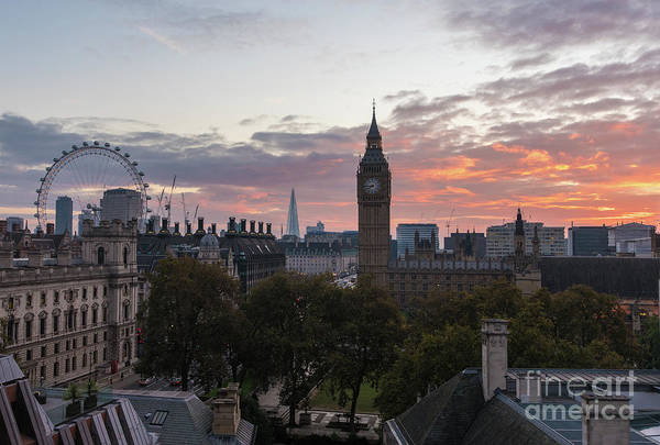 London Eye Photograph - Big Ben London Sunrise by Mike Reid