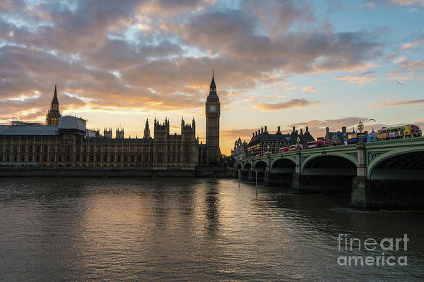 Westminster Bridge Photograph - Big Ben London Sunset by Mike Reid