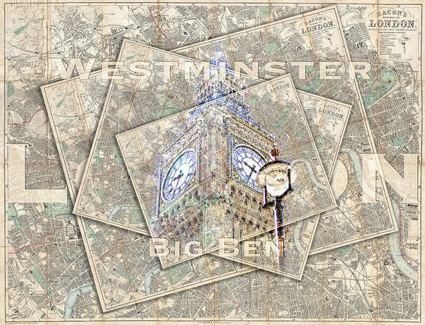 Photograph - Big Ben Postcard by Sharon Popek