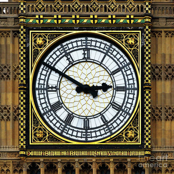 Photograph - Big Ben Square Portrait by James Brunker