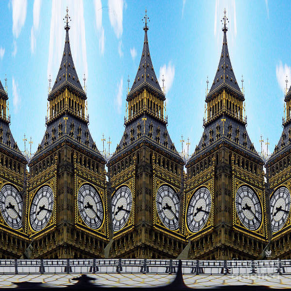 Clock Face Painting - Big Ben Time by Neil Finnemore