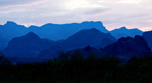 Photograph - Big Bend Blue Chisos Mountains by Rospotte Photography