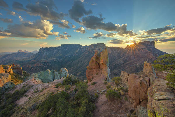 Chisos Mountains Photograph - Big Bend National Park Sunset 4 by Rob Greebon