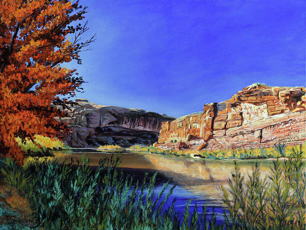 Wall Art - Painting - Big Bend On The Colorado by Timithy L Gordon