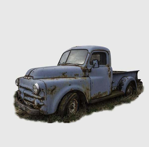 Photograph - Big Blue Dodge Alone by Debra and Dave Vanderlaan