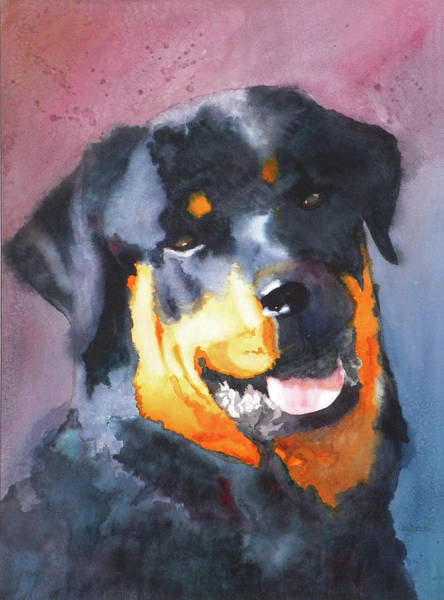 Rottweiler Painting - Big Bob by Ally Benbrook