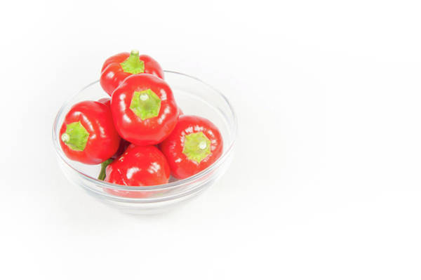 Photograph - Big Bomb Red Chillies In A Bowl by Helen Northcott