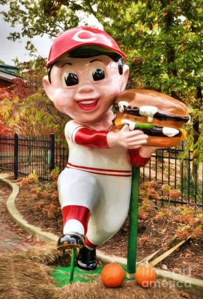 Photograph - Big Boy Is A Cincinnati Reds Fan by Mel Steinhauer