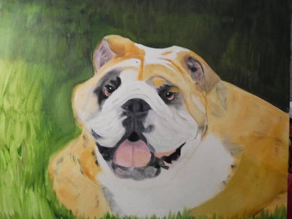 English Bulldog Painting - Big Bulldog by Joette Watson