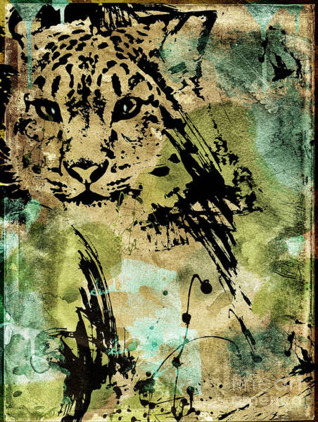 Wall Art - Painting - Big Cat by Mindy Sommers