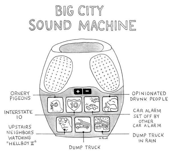 Speaker Drawing - Big City Sound Machine by Olivia de Recat