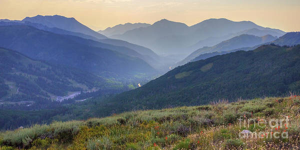 Photograph - Big Cottonwood Canyon From Scott Hill by Spencer Baugh