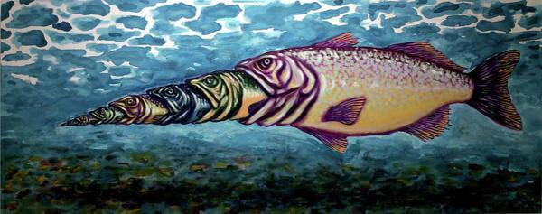 Food Chain Painting - Big Fish by Tiago Hacke