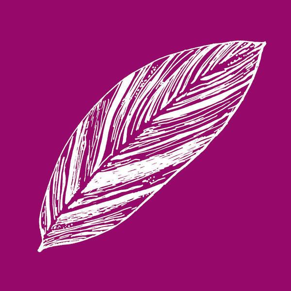 Digital Art - Big Ginger Leaf - Magenta by Karen Dyson