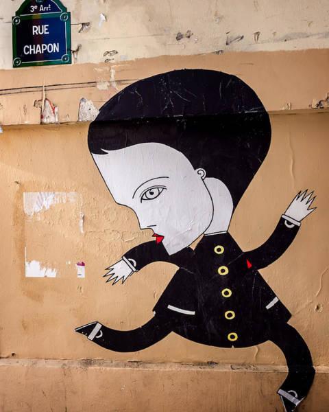 Big Head On Rue Chapon Art Print