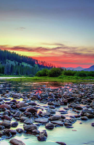 Photograph - Big Hole River Sunset by Bryan Carter