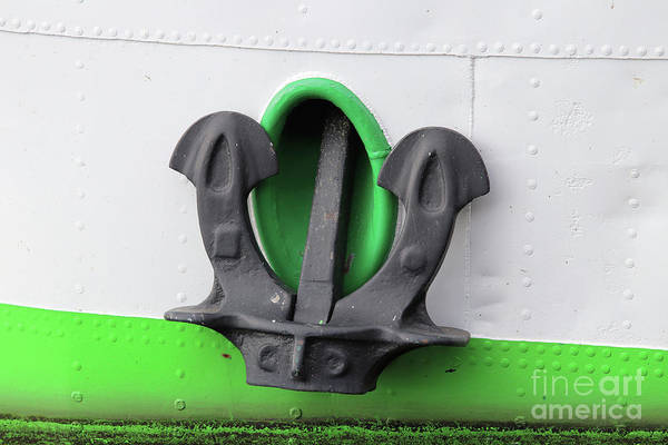 Wall Art - Photograph - Big Iron Anchor Of The Riverboat by Michal Boubin
