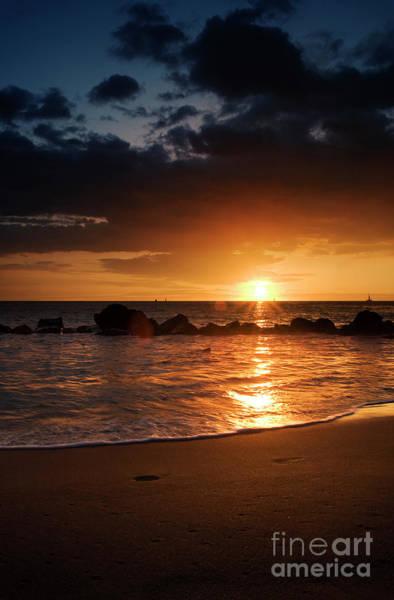 Photograph - Big Island Ocean Sunset by Charmian Vistaunet