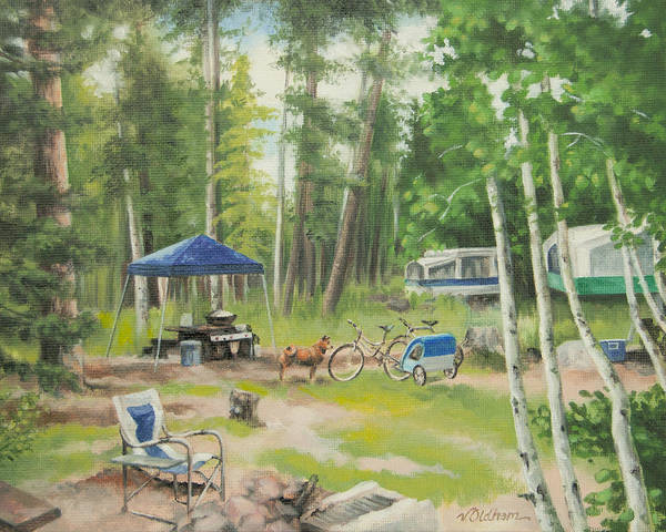 Painting - Big Lake 2015 by Victoria Oldham
