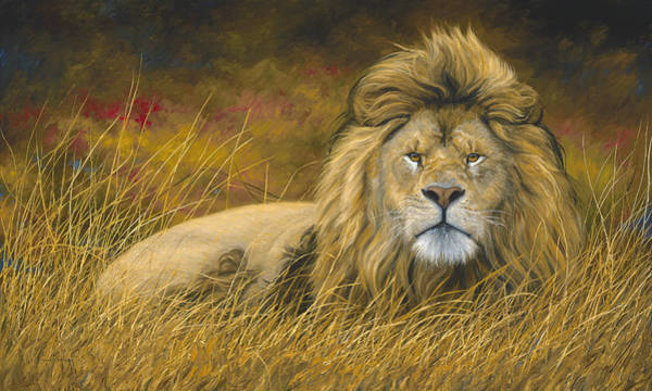 Wall Art - Painting - Big Lion by Lucie Bilodeau