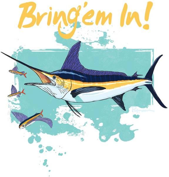 Offshore Wall Art - Digital Art - Big Marlin by Kevin Putman