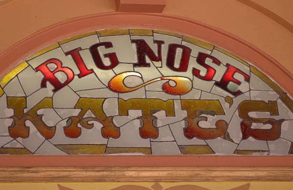 Photograph - Big Nose Kate's Stain-glass by Colleen Cornelius
