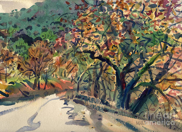 Nile Painting - Big Oak In Niles Canyon by Donald Maier