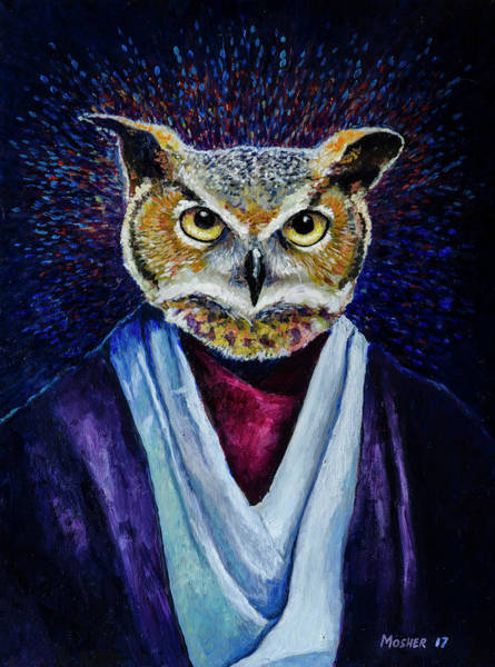Painting - Big Owl by Rick Mosher