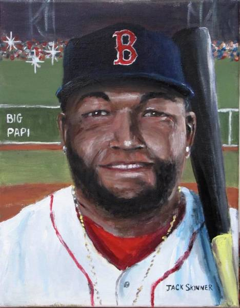 Wall Art - Painting - Big Papi by Jack Skinner