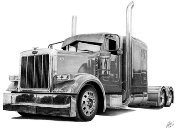 Wall Art - Drawing - Big Pete by Lyle Brown