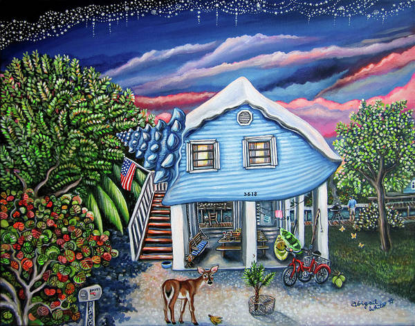 Big Pine Wall Art - Painting - Big Pine Conch House by Abigail White