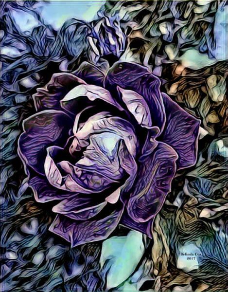Digital Art - Big Purple Rose by Artful Oasis