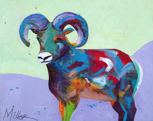 Bighorn Sheep Wall Art - Painting - Big Ram by Tracy Miller