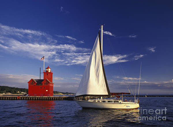 Motoring Photograph - Big Red - Fm000060 by Daniel Dempster