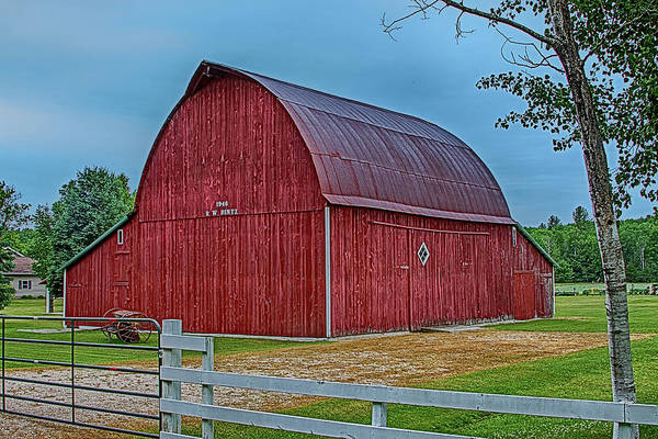 Cross Country Photograph - Big Red Barn At Cross Village by Bill Gallagher