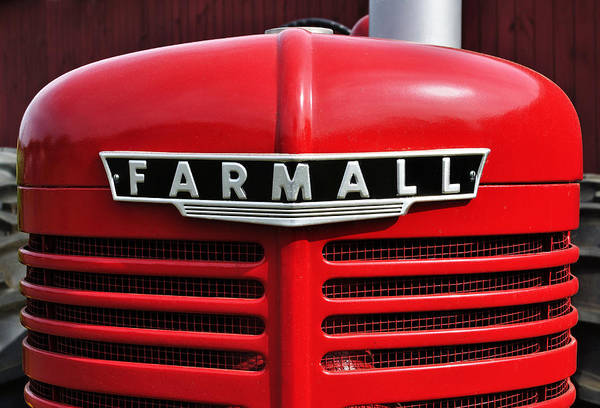 Wall Art - Photograph - Big Red Farmall by Luke Moore