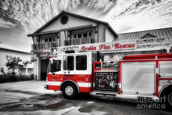 Photograph - Big Red Fire Truck by Mel Steinhauer