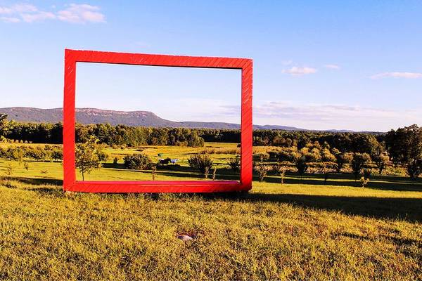 Photograph - Big Red Frame Easthampton by Sven Kielhorn