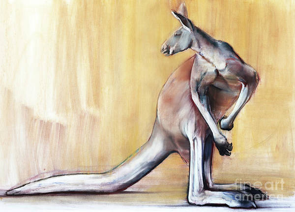 Turning Painting - Big Red  Kangaroo by Mark Adlington