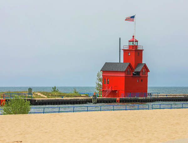 Wall Art - Photograph - Big Red Lighthouse Holland Michigan by Dan Sproul