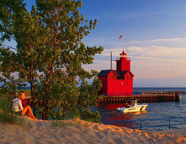 Holland Mi Wall Art - Photograph - Big Red Lighthouse by Nick Zelinsky